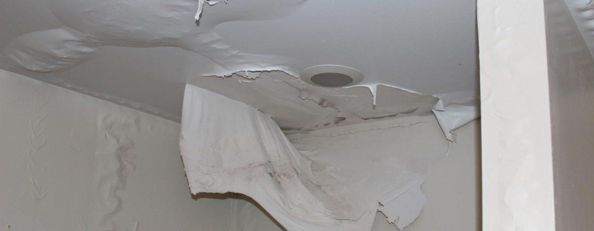 water damage ceiling repair